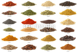 Obrazy i plakaty Different spices isolated on white background. Large Image