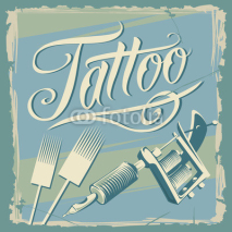 Fototapety Vintage Tattoo Design