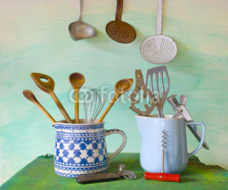 Obrazy i plakaty vintage kitchen utensils