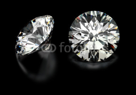 Fototapety Round Cut Diamonds