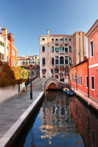 Naklejki Venice with colorful building in Italy