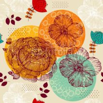 Fototapety Vector seamless floral pattern