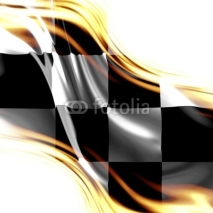 Obrazy i plakaty old racing flag with some folds in it