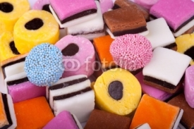 Fototapety Assortment of Licorice Sweets
