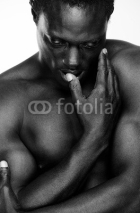 Fototapety Athletic African American Man