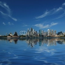 Naklejki sydney city reflections