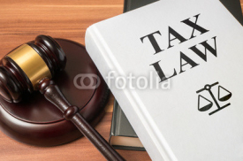 Fototapety Tax law book and gavel. Consumer protection book and gavel. Law and regulations concept.