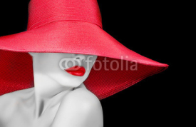 Fototapety face of a beautiful woman in hat