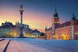 Naklejki Warsaw. Image of Old Town Warsaw, Poland during sunset.