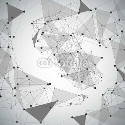 Abstract background made from points and lines