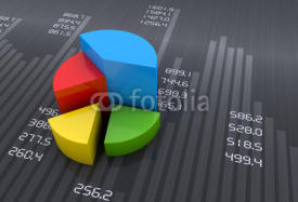 Fototapety Financial data in form of charts and diagrams