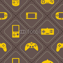 Obrazy i plakaty seamless background with game consoles for your design
