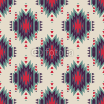 Fototapety Vector seamless decorative ethnic pattern. American indian motifs. Background with aztec tribal ornament.