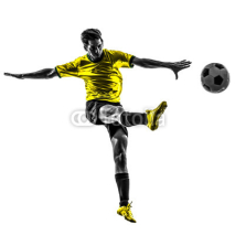 Fototapety brazilian soccer football player young man kicking silhouette