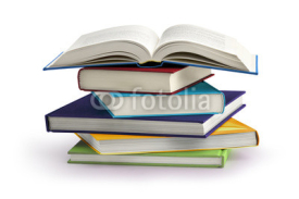 Obrazy i plakaty stack of books isolated on white background