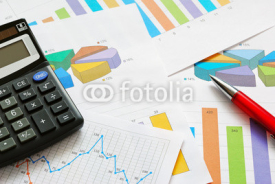 Fototapety Financial graphs and charts