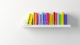 Fototapety shelf with multicolored books