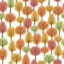 Naklejki seamless pattern with autumn forest