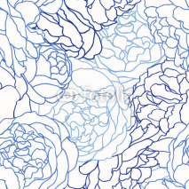 Naklejki Seamless pattern with roses.