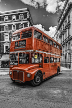 Obrazy i plakaty Double Decker London bitonal