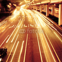 Fototapety traffic in night