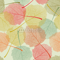 Fototapety Seamless colors leaves pattern