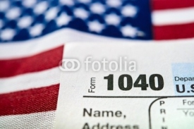 Fototapety U.S. Individual Income Tax Return form 1040.