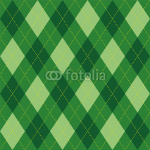 Fototapety Argyle pattern green rhombus seamless texture, illustration