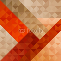 Naklejki Geometric Orange Abstract  Pattern