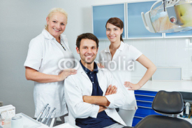 Naklejki Group of employees at dentist