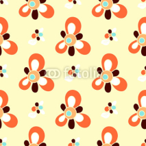 Fototapety Seamless Floral Pattern for Patchwork