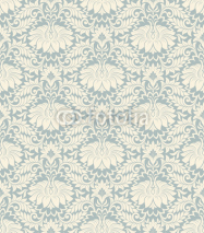 Naklejki seamless vintage flower pattern background vector