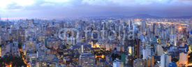 Naklejki Aerial view of Sao Paulo in the night  time