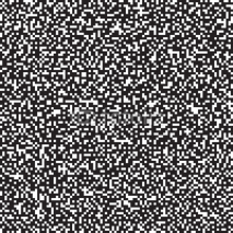 Obrazy i plakaty Pixel background, seamless pattern, black and white, vector illustration