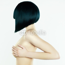 Naklejki Nude woman with short hairstyle