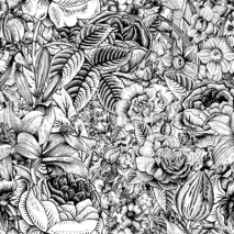 Fototapety Summer seamless floral pattern.