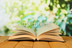 Naklejki Opened book on bright background