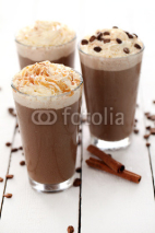 Fototapety Ice coffee with whipped cream