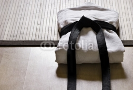Fototapety judo gi with black belt