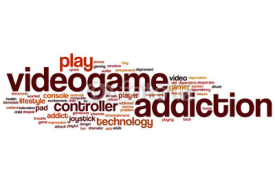 Obrazy i plakaty Videogame addiction word cloud