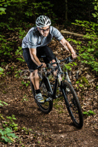 Fototapety Mountainbiker im Downhill