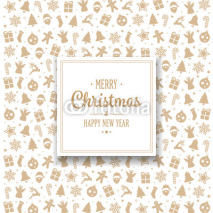 Gold Merry Christmas Elements Card Background