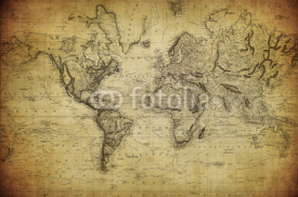 Fototapety vintage map of the world 1814..
