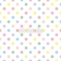 Naklejki Seamless vector pattern background pastel colorful polka dots