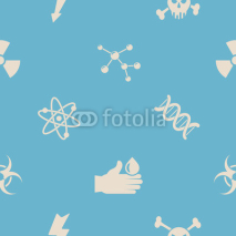 Obrazy i plakaty Seamless background with science icons for your design
