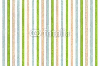 Watercolor beige, green and blue striped background.