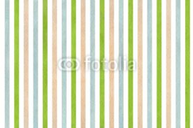 Naklejki Watercolor beige, green and blue striped background.