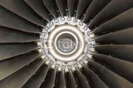 Naklejki Aircraft jet engine detail