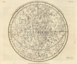 Fototapety Astronomical chart, Vintage