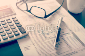 Fototapety Individual income tax return form,